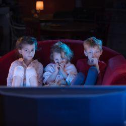 Young Kids Watching TV