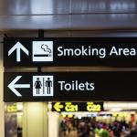 Airport bathroom