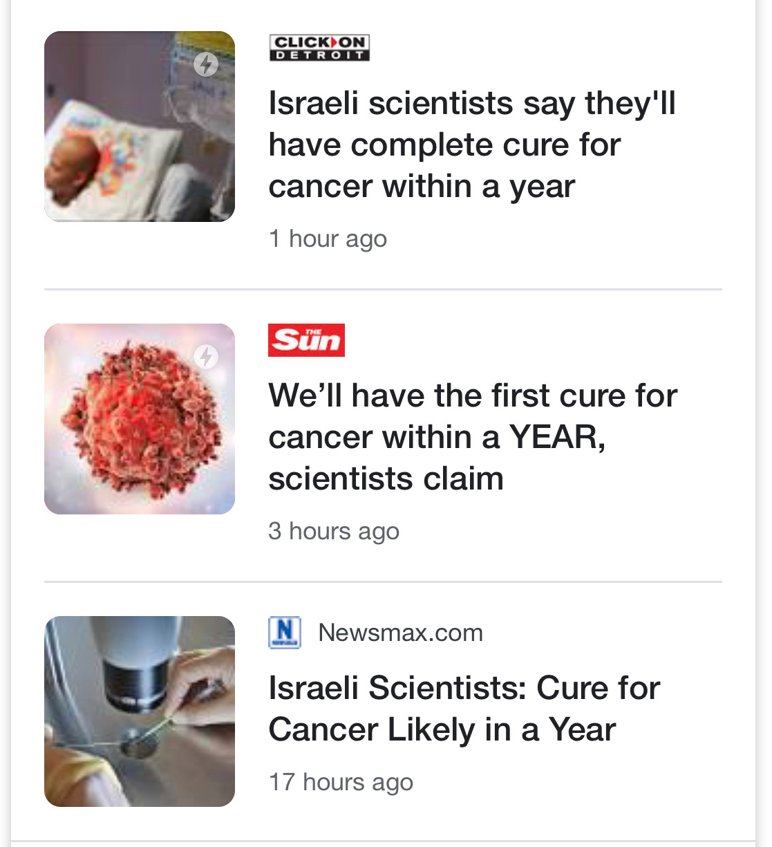 Company Claims 'Complete Cure For Cancer' In A Year - Cue The