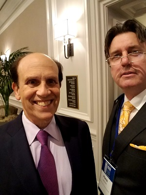 Michael Milken and Hank Campbell at Future of Health Summit