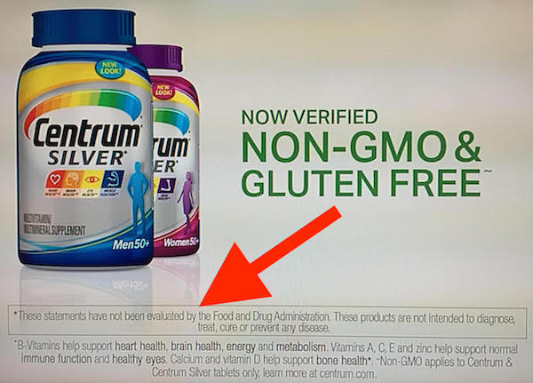 Pfizer's Centrum Silver Multivitamins Contain Pesticide