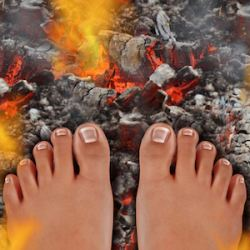un magical moments burning your feet from firewalking american