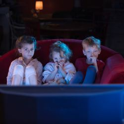 Young Kids Watching TV